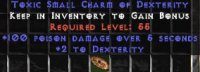 Europe Ladder 100 Poison Damage / 2 Dex Small Charm