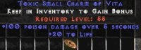 Europe Ladder 100 Poison Damage / 20 Life Small Charm