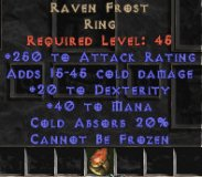 Europe NON Ladder Raven Frost 20 Dex & 250 AR - Perfect