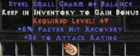 Europe NON Ladder 5% FHR / 36 Attack Rating Small Charm