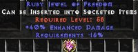 West NON Ladder 40% ED / -15% Requirements Jewel