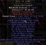 West NON Ladder Call to Arms Crystal Sword - 6/6/4