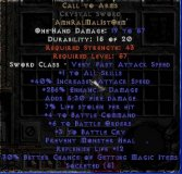West NON Ladder Call to Arms Crystal Sword - 6 BO