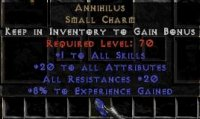 Europe NON Ladder 20 Attributes / 20 All Res / 5-7 Exp Annihilus