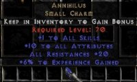 Europe NON Ladder 10-14 Attributes / 20 All Res / 5-10 Exp Annihilus