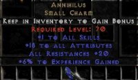 Europe NON Ladder 15-19 Attributes / 20 All Res / 5-10 Exp Annihilus