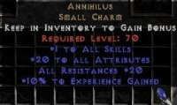 Europe NON Ladder 20 Attributes / 20 All Res / 10 Exp Annihilus - Perfect