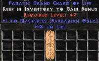 West Ladder Barbarian Masteries 10-19 Life GC