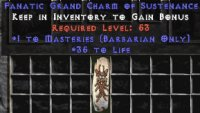 West Ladder Barbarian Masteries 30-34 Life GC