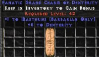 West Ladder Barbarian Masteries 4-5 Dex GC