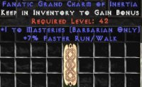 West Ladder Barbarian Masteries 7% FRW GC