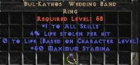 Europe NON Ladder Bul-Kathos' Wedding Band 3-4% LL