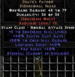 East NON Ladder Death's Fathom - Ethereal - 30/40/40 - Perfect (with perf jewel cold 5/5)