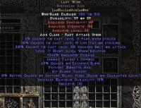 West NON Ladder Last Wish Berserker Axe - 330-374% ED