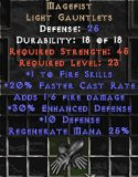 West NON Ladder Magefist Crusader Gauntlets (Upgraded) - 98 Defense - Perfect