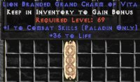 East Ladder Paladin Combat 30-34 Life GC