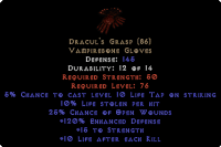 West NON Ladder Dracul's Grasp - 10/15/120/10 - Perfect