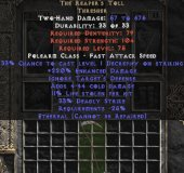 West NON Ladder The Reaper's Toll (Ethereal) 220-240% ED