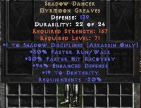 East NON Ladder Shadow Dancer +1 Shadow Disciplines