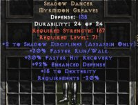 East NON Ladder Shadow Dancer +2 Shadow Disciplines