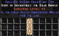 West Ladder Sorceress Cold 10-19 Life GC