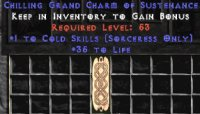 West Ladder Sorceress Cold 30-34 Life GC