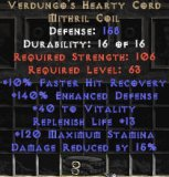 East Ladder Verdungo's Hearty Cord 15% DR & +40 Vit