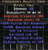 East Ladder Verdungo's Hearty Cord