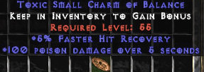 <center><b>East Ladder</b><br>100 Poison Damage / 5% FHR Small Charm