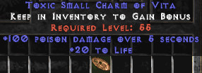 <center><b>West Ladder</b><br>100 Poison Damage / 20 Life Small Charm