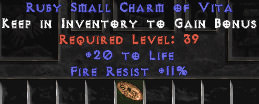 <center><b>Europe Ladder</b><br>20 Life / 11 Fire Resist Small Charm