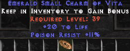 <center><b>Europe Ladder</b><br>20 Life / 11 Poison Resist Small Charm