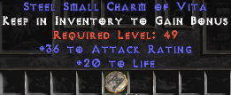 <b><center>East Ladder</b><br>10x pack of 20 Life / 36 Attack Rating Small Charm