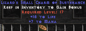 <center><b>East Ladder</b><br>Life + Mana = 22-27 Small Charm