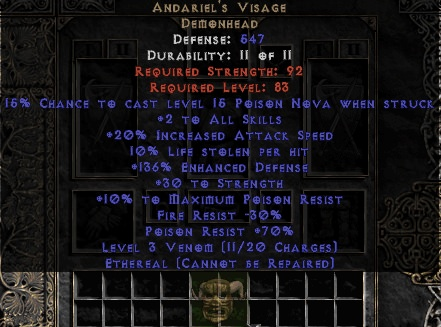 <center><b>Europe Ladder</b><br>Andariel's Visage (Ethereal) 10% LL