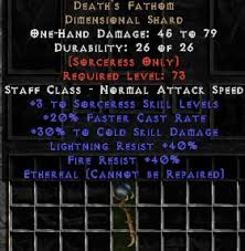 <center><b>East Non-Ladder</b><br>Death\'s Fathom - Ethereal - 30/40/40 - Perfect (with perf jewel cold 5/5)