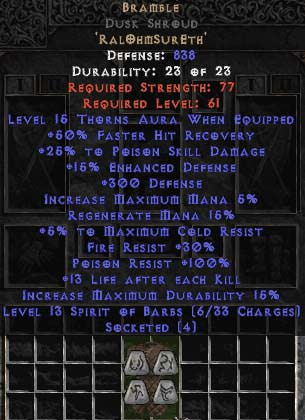 <center><b>Europe Ladder</b><br>Bramble  0-14ed Dusk Shroud UNMADE</center>