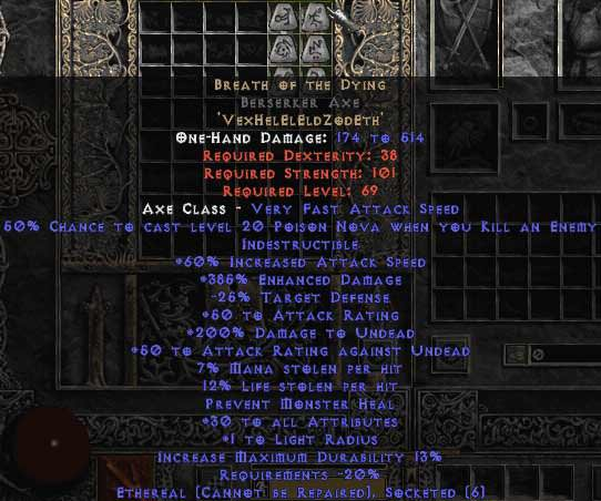 <center><b>Europe Ladder</b><br>Breath of the Dying Berserker Axe (Ethereal) 0-14 ed UNMADE