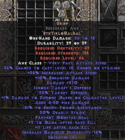 <center><b>Europe Ladder</b><br>Grief Berserker Axe 35-39/370-399/20-25, 0-14 ed</center>