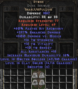 <center><b>Europe Non-Ladder</b><br>Stone Dusk Shroud - 250-304% ED</center>