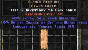<center><b>East Non-Ladder</b><br>Gheed's Fortune 40% Magic Find