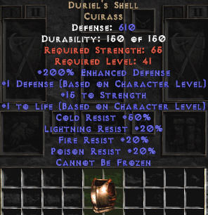 <center><b>Europe ladder</b><br>Duriel\'s Shell - 200% ED - Perfect