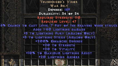 <center><b>East Ladder</b><br>Thundergod's Vigor - 200% ED - Perfect