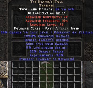 <center><b>Europe Ladder</b><br>The Reaper's Toll (Ethereal) 190-229% ED