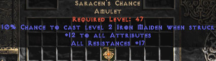 <b><center>West Non-Ladder</b><br>Saracen\'s Chance 25 All Res - Perfect