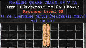 <center><b>East Non-Ladder</b><br>Sorceress Lightning 40-44 Life GC