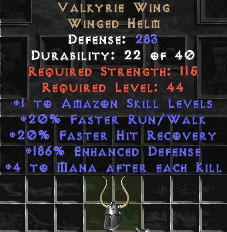 <center><b>East Non-Ladder</b><br>Valkyrie Wing +2 Skills/200 ed/4 maek - Perfect